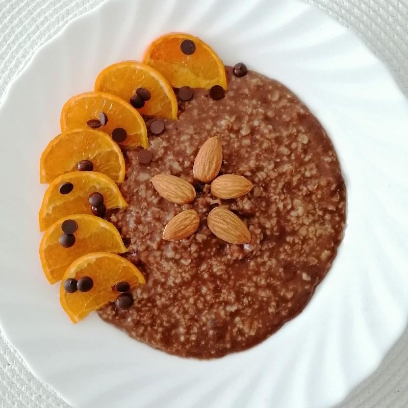 Terci de ovăz cu ciocolată și portocale - Healthy Breakfast