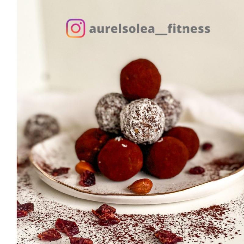 Bomboane cu ciocolată și merișoare -  HEALTHY & NO SUGAR - @aurelsolea__fitness