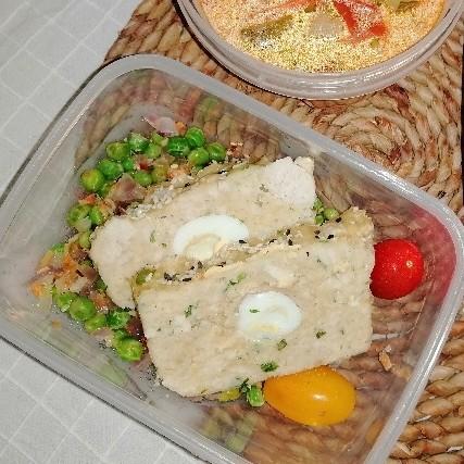 Chiftea/Drob/Terina de curcan cu oua de prepelita