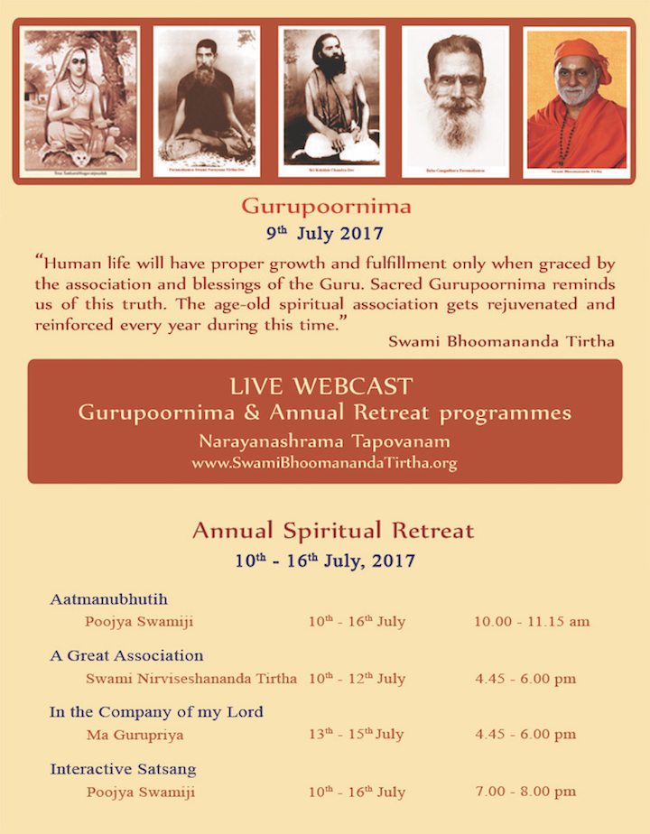 Gurupoornima Retreat 2017 UpdWebcast